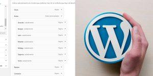 Cómo hacer menús en WordPress