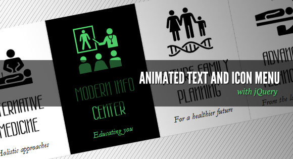 Animated Text and Icon Menu with jQuery