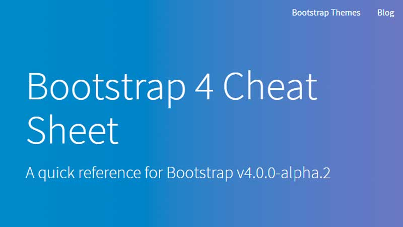 Bootstrap 4 Cheat Sheet